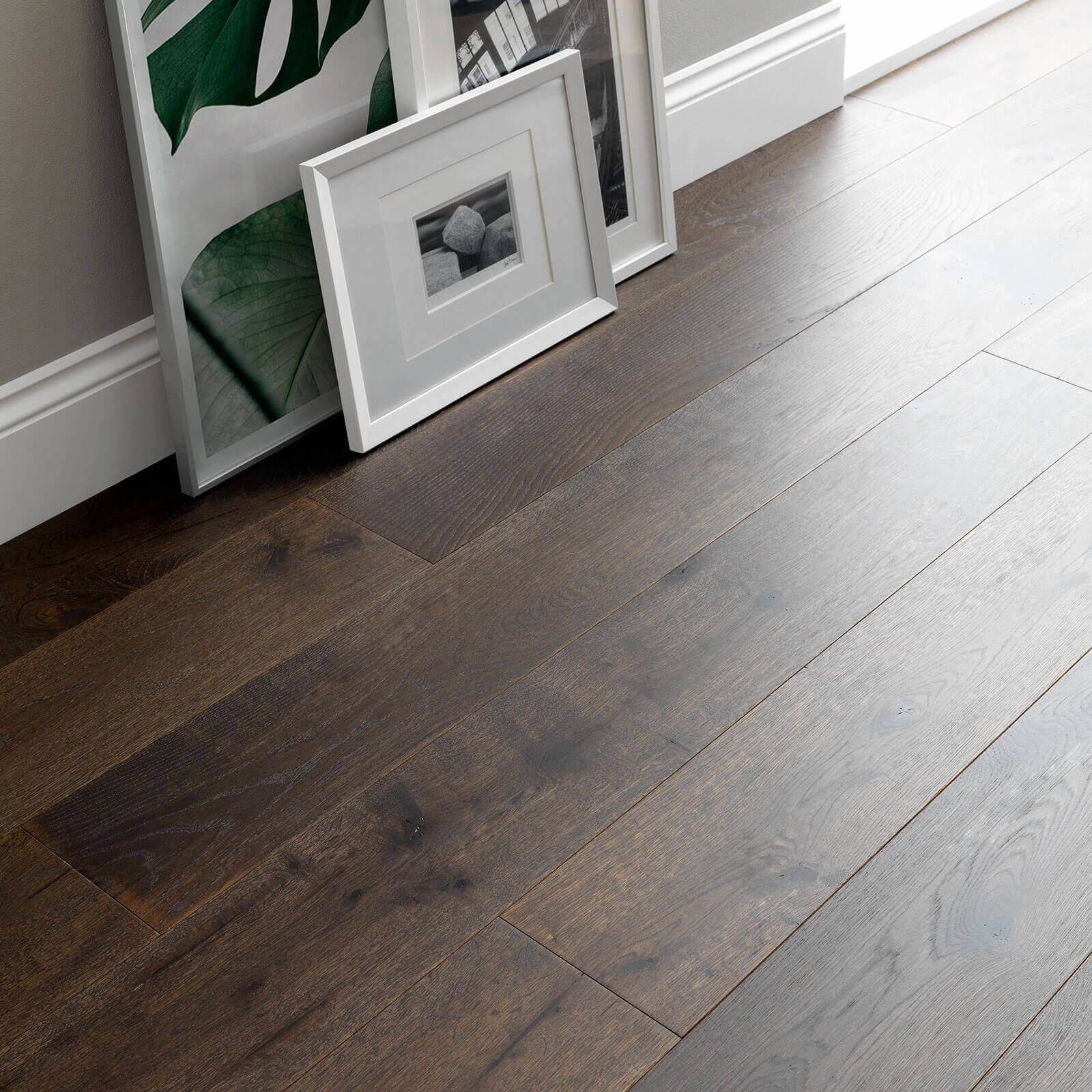 Woodpecker Chepstow Planed Cocoa Oak Hardwax Oiled Engineered Wood Flooring 189mm 65-POC-001