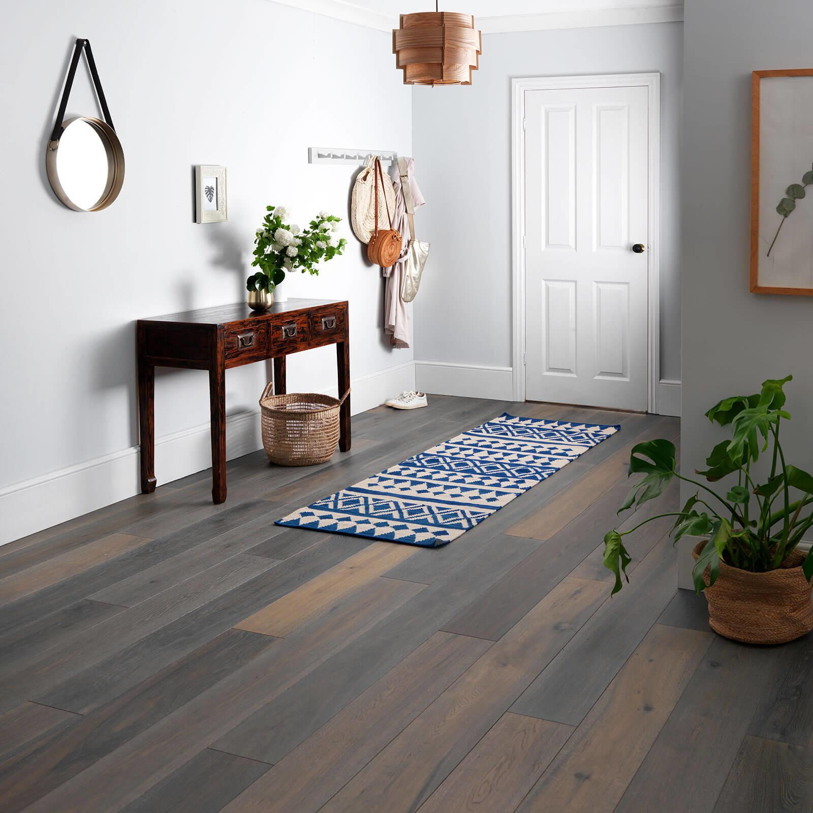 Woodpecker Harlech Stormy Oak Brushed & Matt Lacquered Engineered Wood Flooring 190mm 35-HWG-001