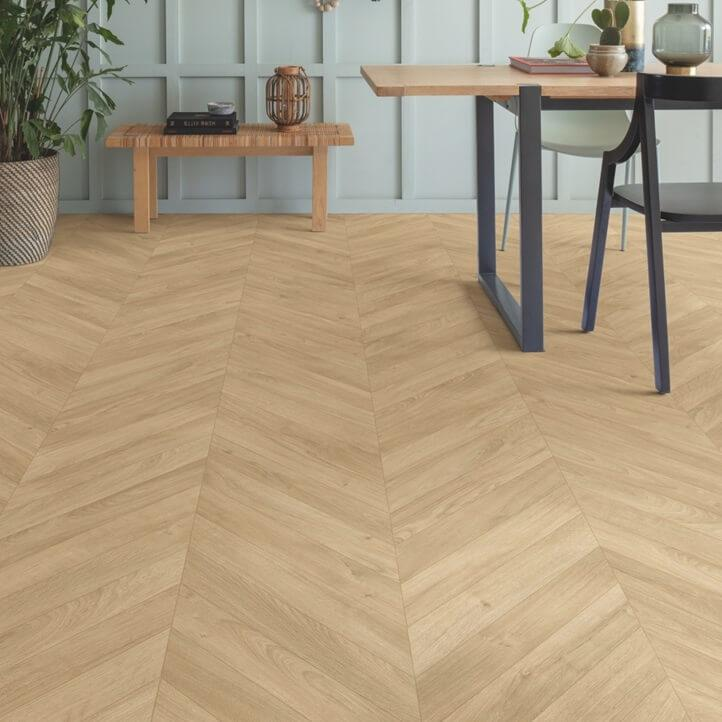 Quick-Step Impressive Patterns Chevron Oak Medium IPA4160 8mm Laminate Flooring