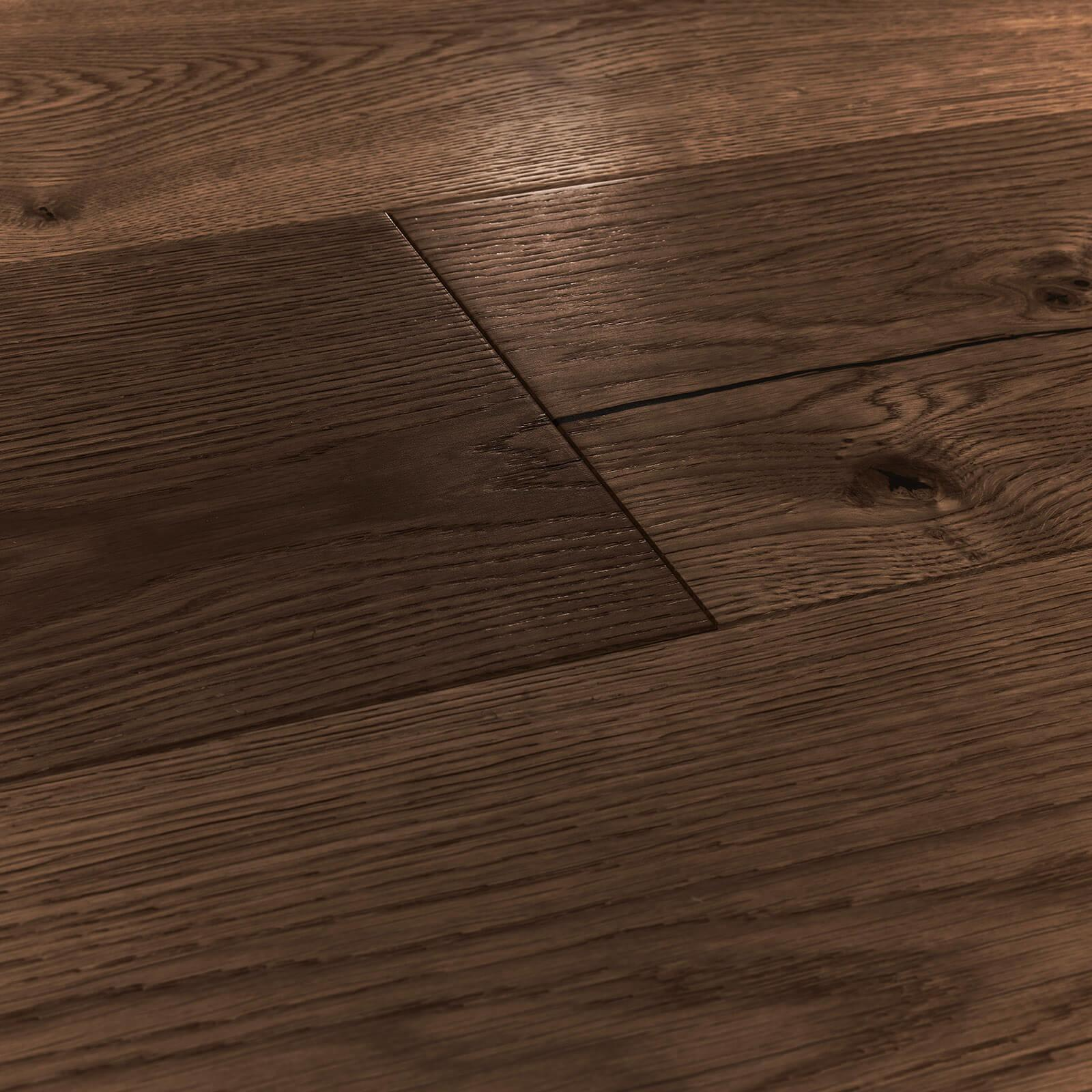 Woodpecker Chepstow Distressed Charcoal Oak Hardwax Oiled Engineered Wood Flooring 240mm 65-AOC-002