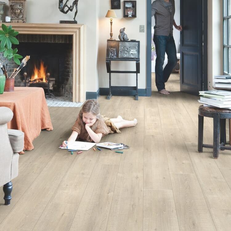 Quick-Step Impressive Saw Cut Oak Beige IM1857 8mm Laminate Flooring