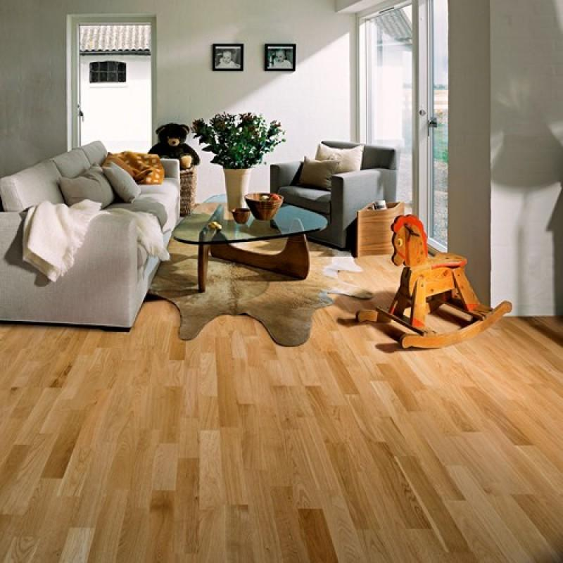 Woodpecker Salcombe Natural 3 Strip Oak Brushed & Matt Lacquered 46-WOU-003 Engineered Wood Flooring
