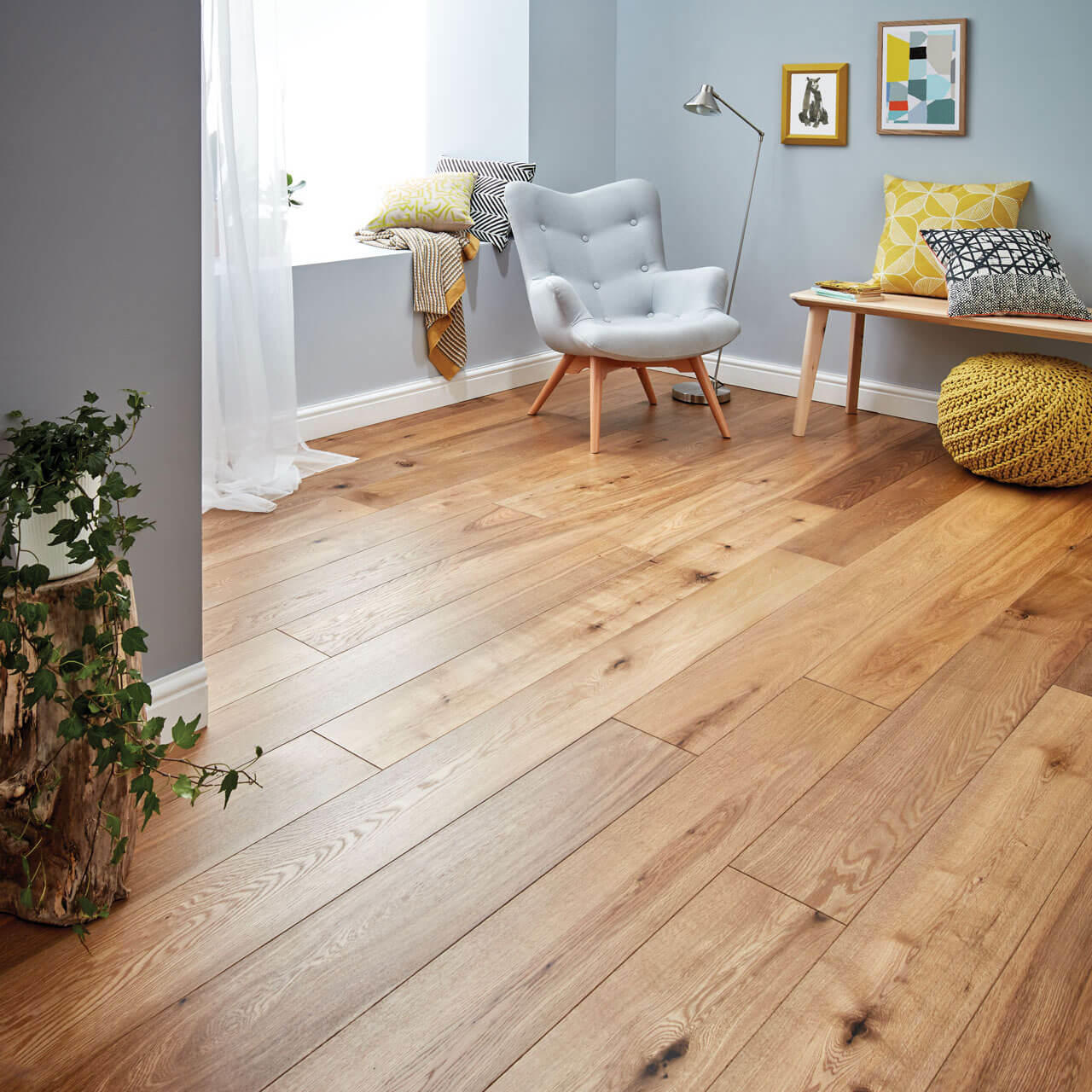 Woodpecker Harlech Smoked Oak Oiled Engineered Wood Flooring 190mm 35-HSO-001
