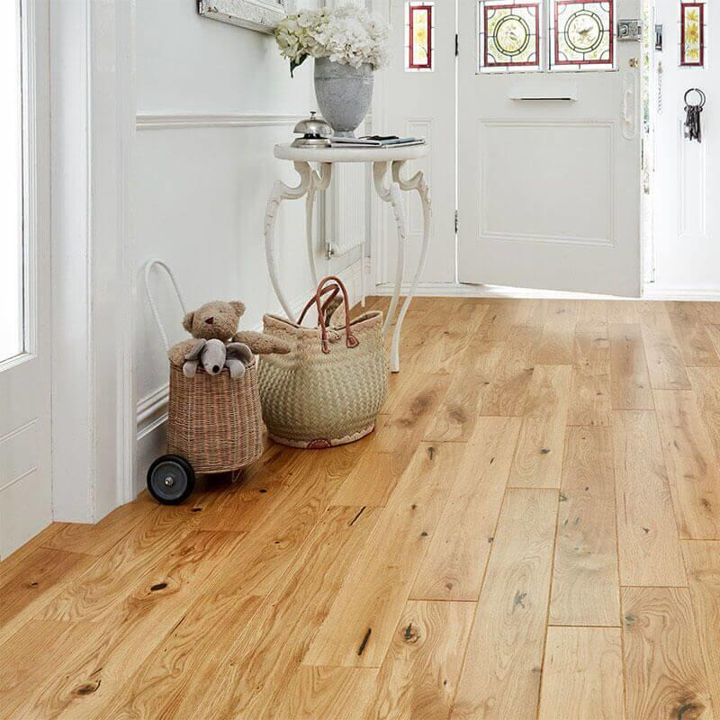 Baelea Narrow Natural Oak UV Matt Lacquered 130mm Wide Engineered Wood Flooring BF10
