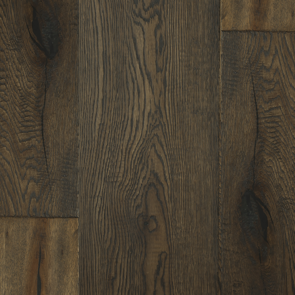 Tuscan Vintage Classic Dark Smoked Oak Enhanced Hand Scraped Brushed TF202 Engineered Wood Flooring