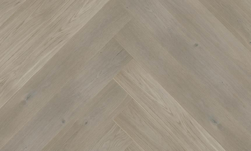 Parquet Darwin Oak Herringbone HOZDARW Brushed & Matt Lacquered Baelea Holt Engineered Wood Flooring
