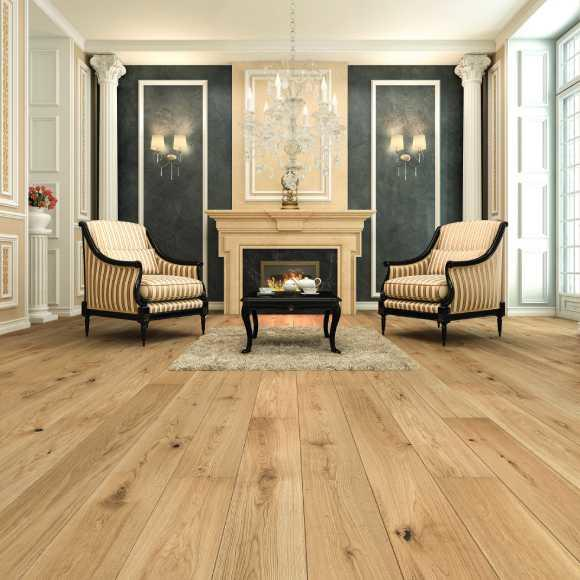 Tuscan 1 Strip Cheer Oak Brushed & UV Matt Lacquered TF120 Strato Classic Engineered Wood Flooring