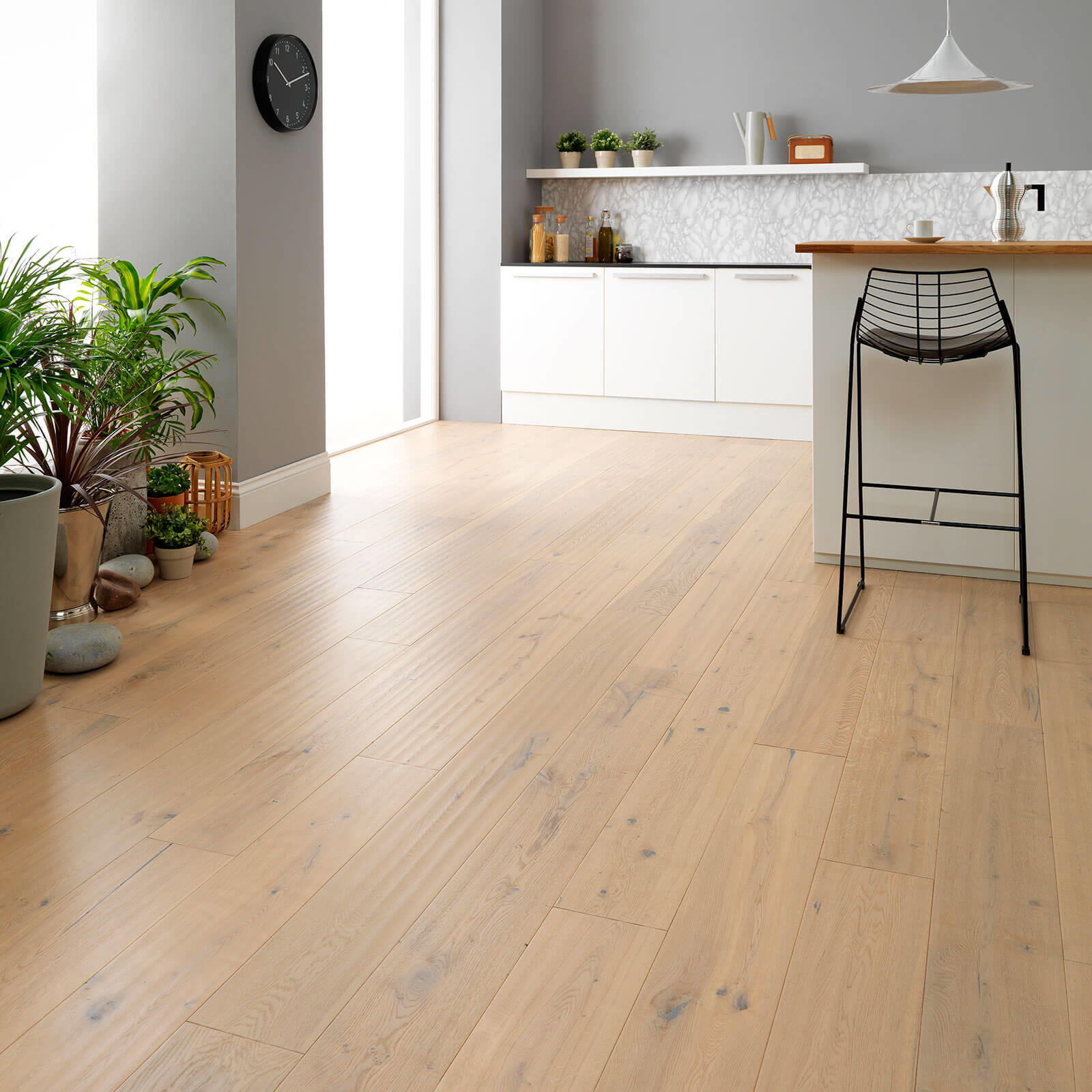 Woodpecker Berkeley Distressed White Oak Oiled 38-BOA-006 Engineered Wood Flooring