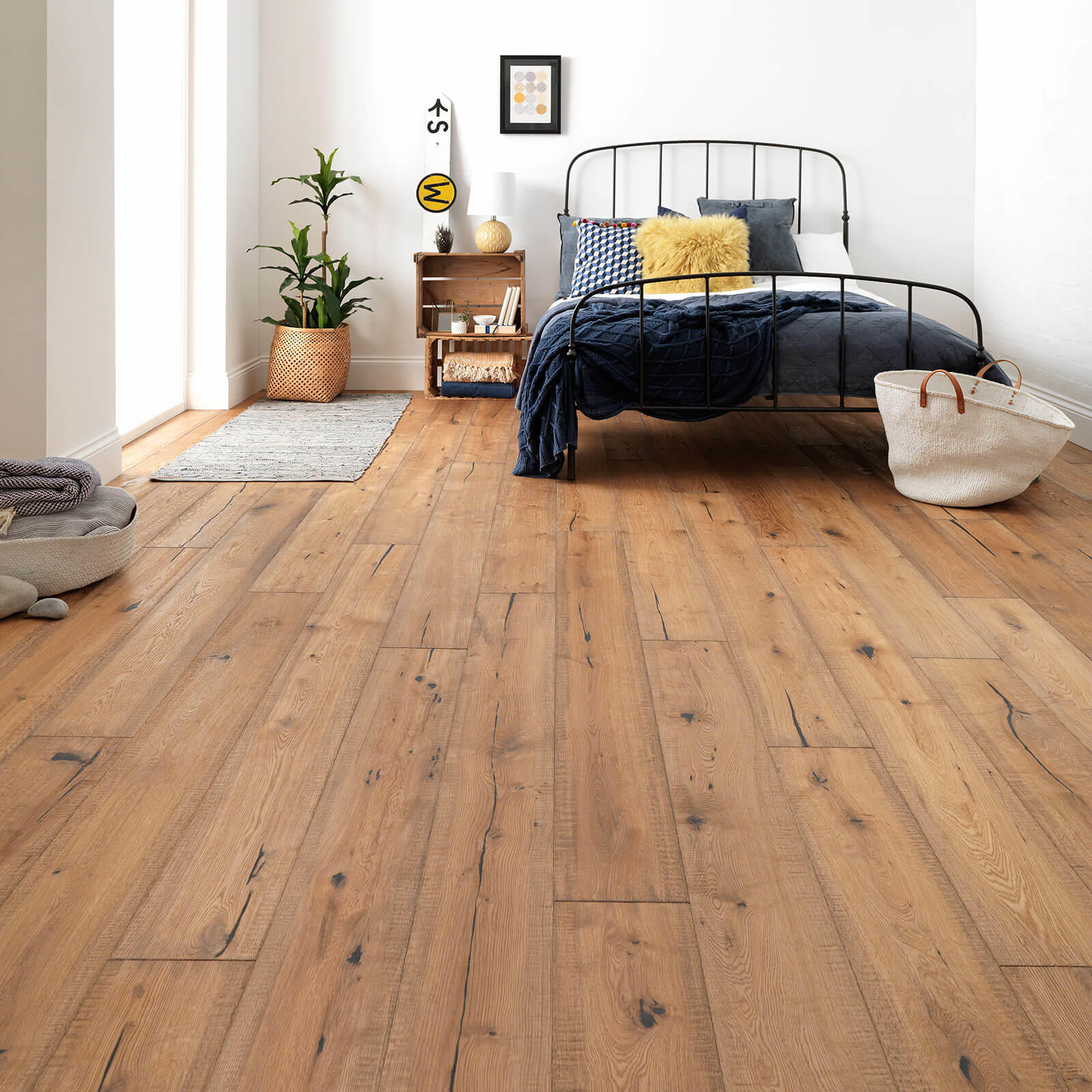 Woodpecker Berkeley Distressed Cottage Oak Oiled 38-BDW-001 Engineered Wood Flooring