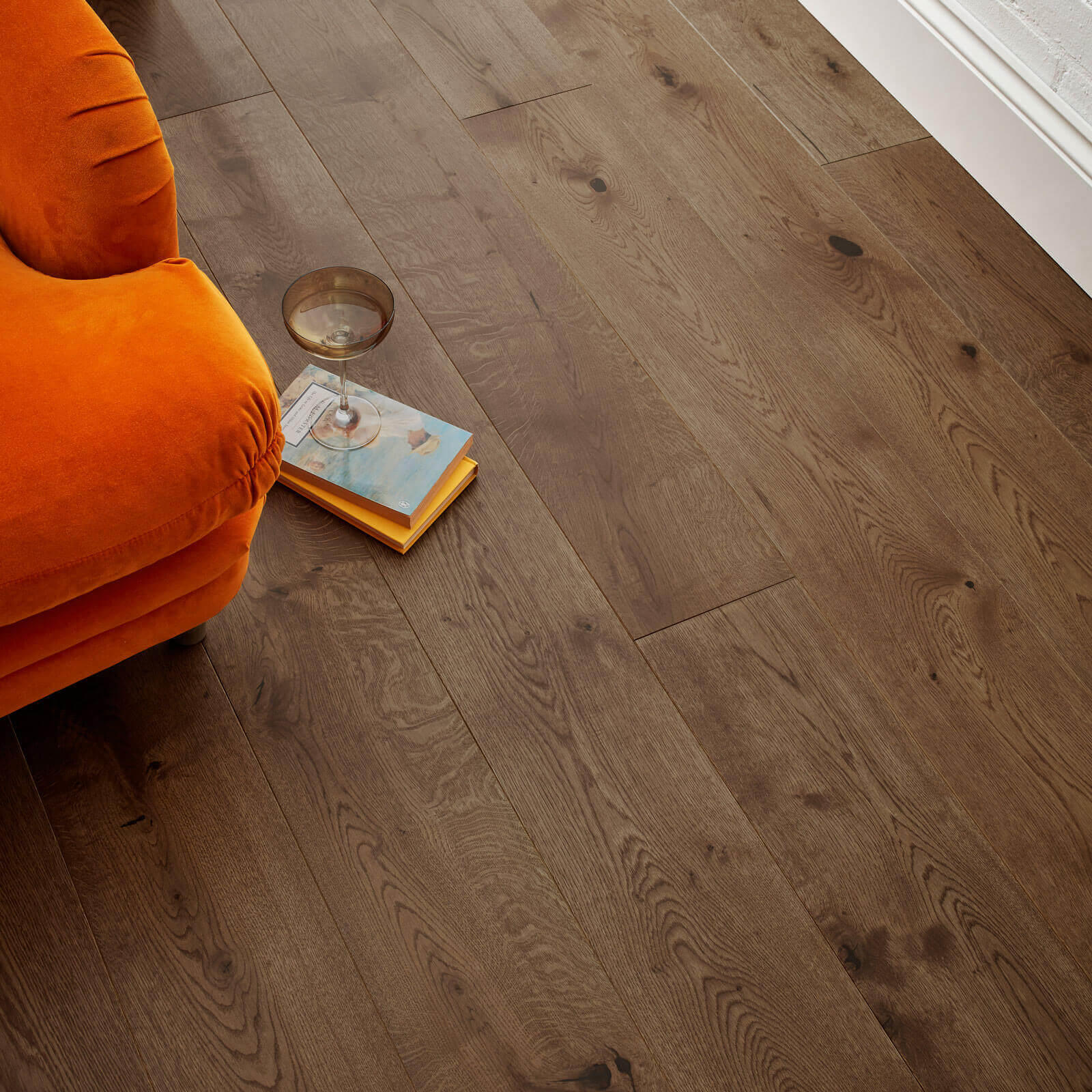 Woodpecker Chepstow Planed Antique Oak Hardwax Oiled Engineered Wood Flooring 189mm 65-POA-001