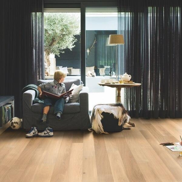 Quick-Step Castello Pure Oak Matt Lacquered Engineered Realwood Flooring CAS1341S