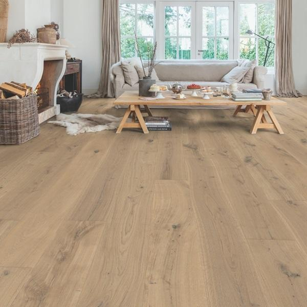 Quick-Step Massimo Cappuccino Blonde Oak Extra Matt Lacquered Engineered Realwood Flooring MAS3566S