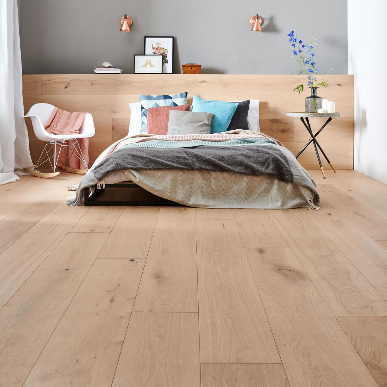 Woodpecker Harlech Raw Oak Lacquered Engineered Wood Flooring 240mm 35-HRA-240