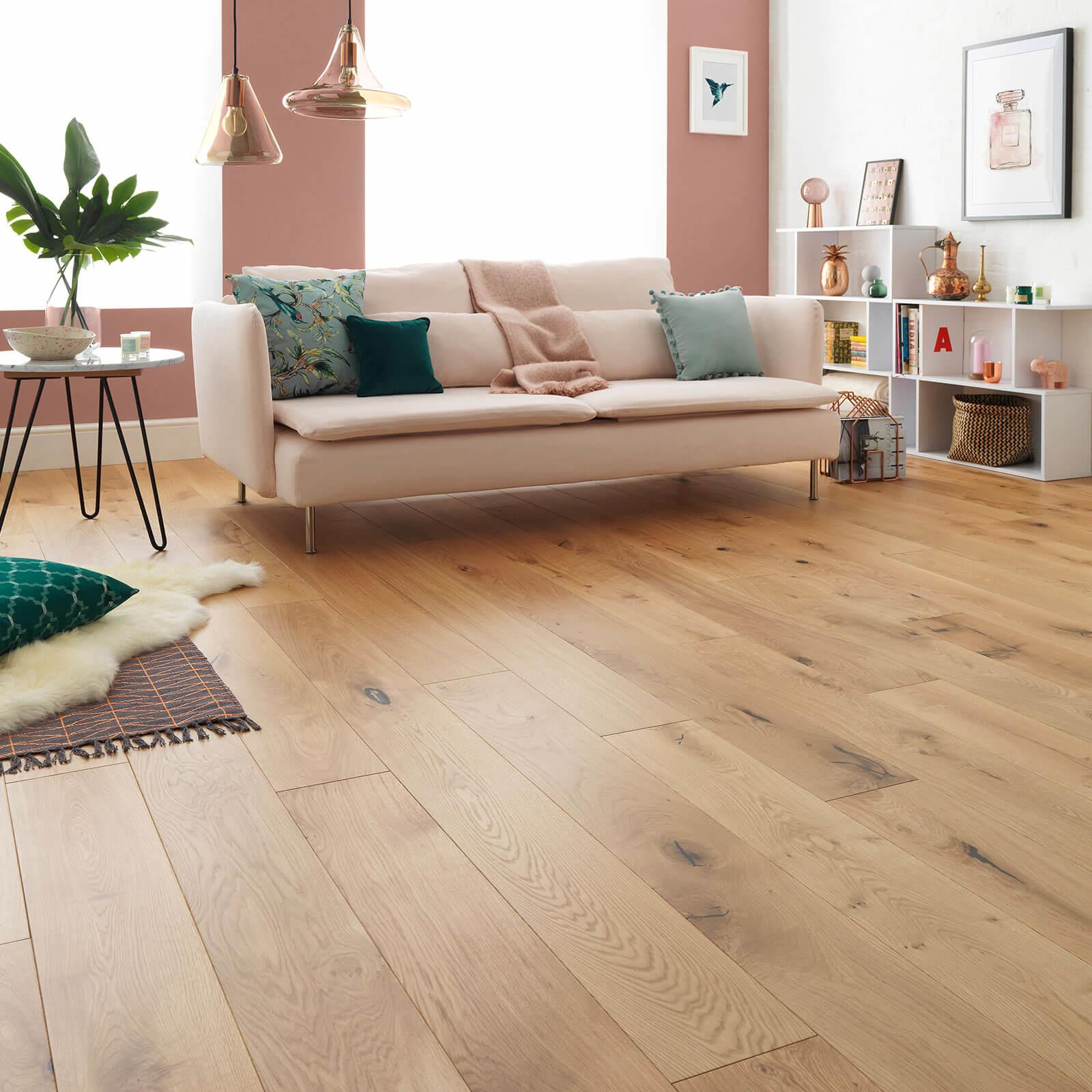 Woodpecker Harlech Rustic Oak Lacquered Engineered Wood Flooring 240mm 35-HRO-240