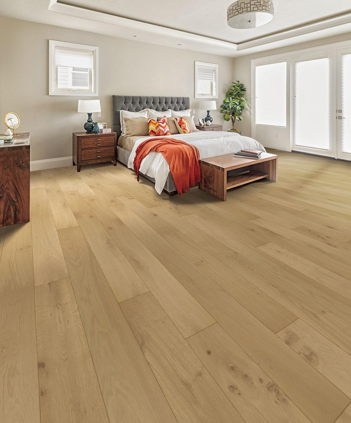 Tuscan Grande White Smoked Oak Flat Sanded & UV Oiled TF311 Engineered Wood Flooring