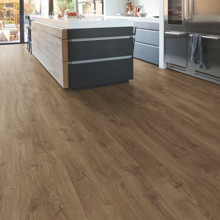 Quick-Step Eligna Newcastle Oak Brown Planks EL3582 Hydroseal Laminate Flooring