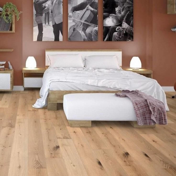 Baelea Natural Oak Lacquered 4V T&G Engineered Wood Flooring BF13 20mm x 190mm