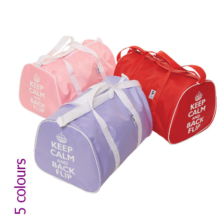 Gymnastics Holdall Bag with Keep Calm & Back Flip motif