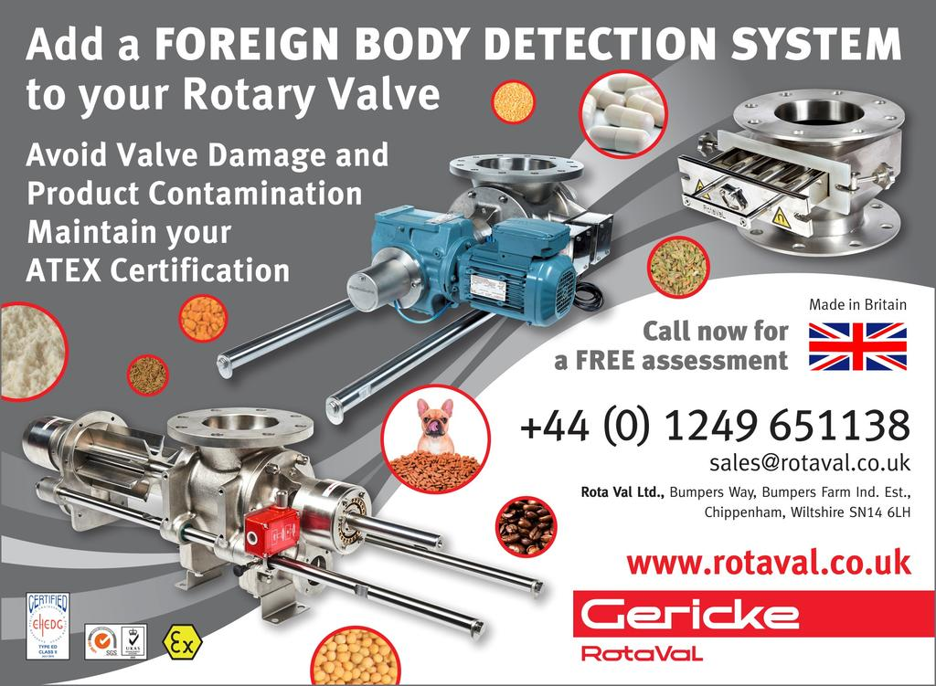 Protect your Rotary Valves and product with Foreign Body Detection Systems