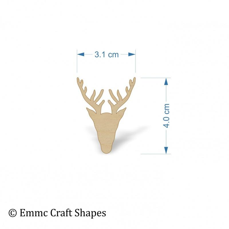 Plywood Scottish Stag Head Shape - 4 cm