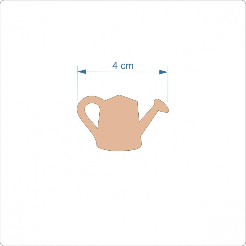 3mm MDF Watering Can Cut Out - 4 cm