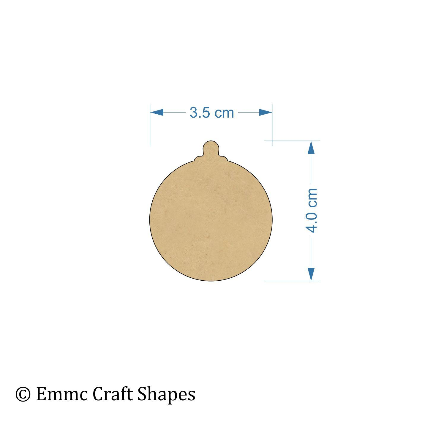 3 mm MDF bauble cut outs - 4 cm blank