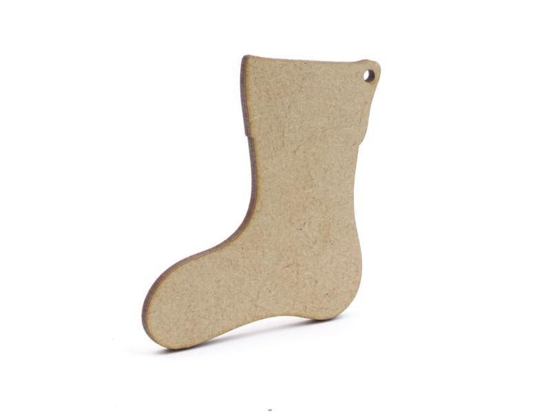 3mm MDF Stocking Blank - 8cm With Hanging Hole