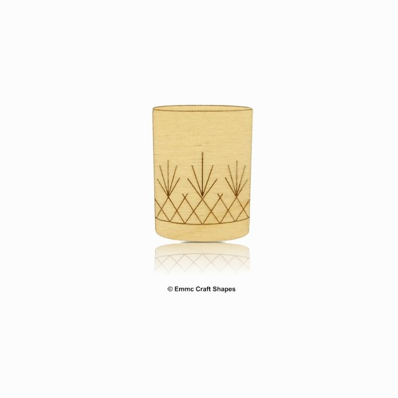 Plywood Whiskey Glass Shape - 4 cm