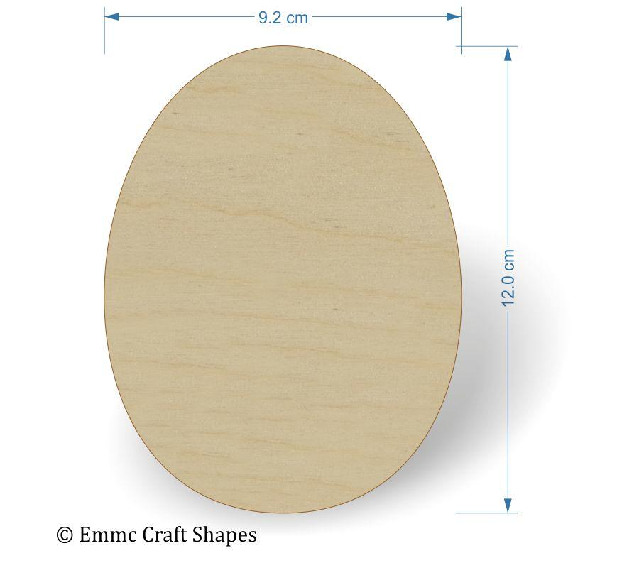 Plywood Egg Shape - 12 cm without hanging hole