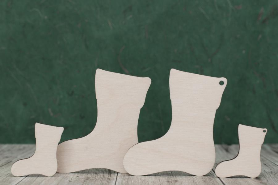 Plywood Christmas Stocking Shapes
