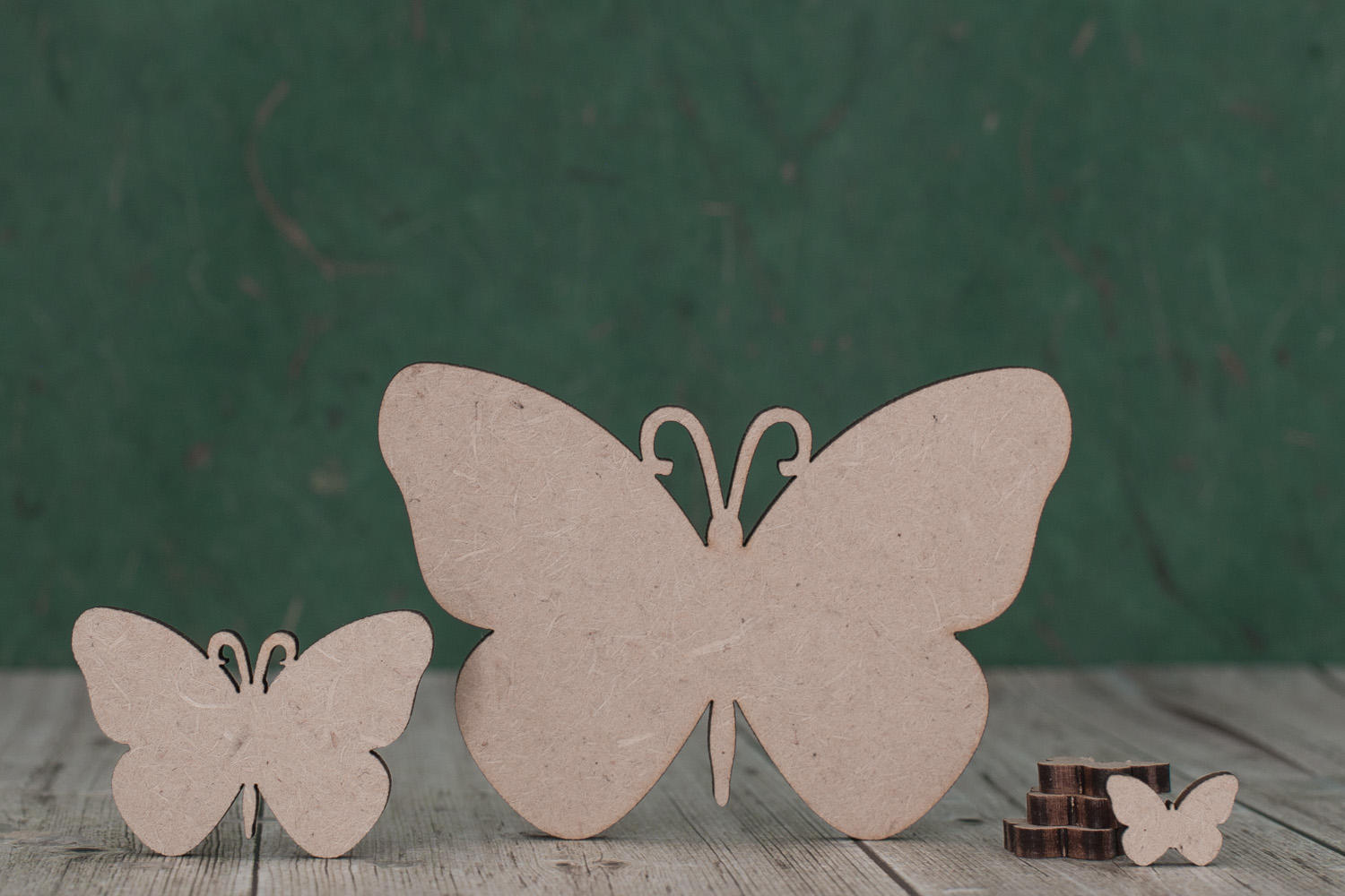 Wooden Mdf Butterfly Shape Craft Tags 2 And 3mm