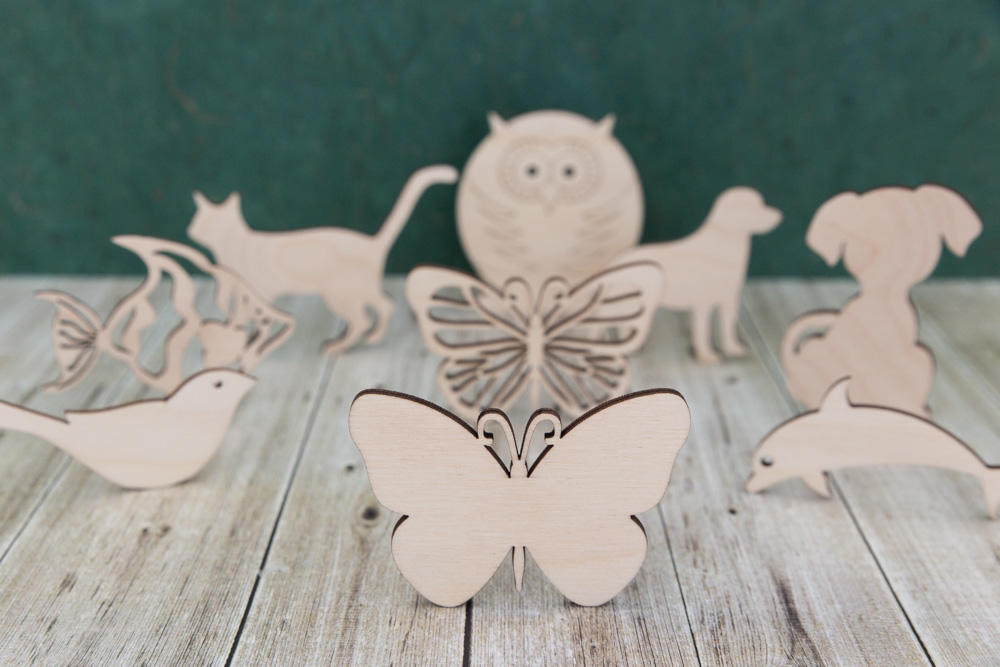 Animals and creatures wooden craft blanks
