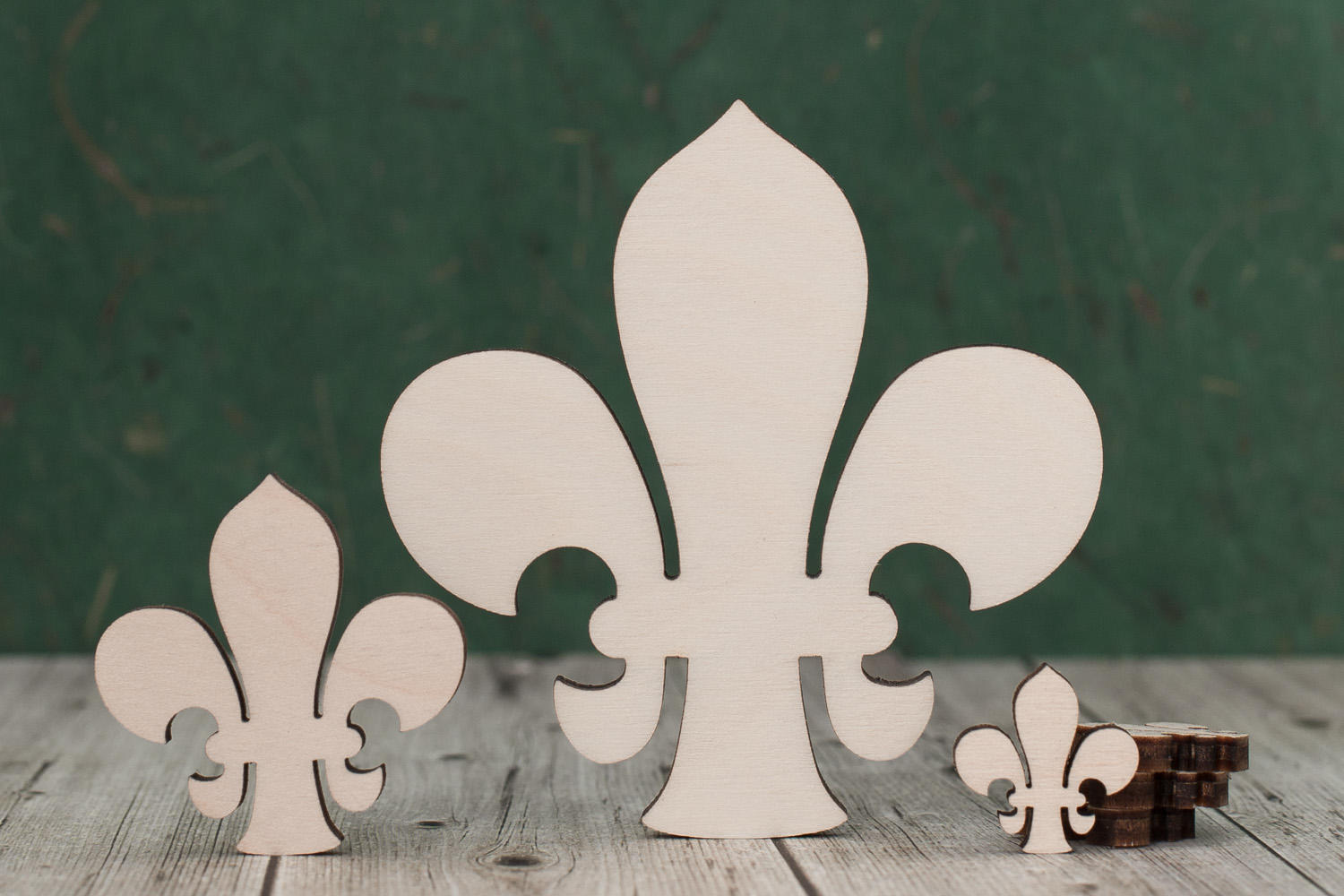 4 mm Plywood Fleur de Lis Craft Shape