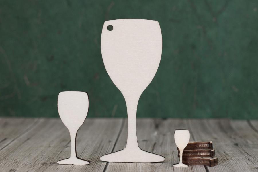Wooden Laser Cut Wine Glass Shapes Ideal For Crafting