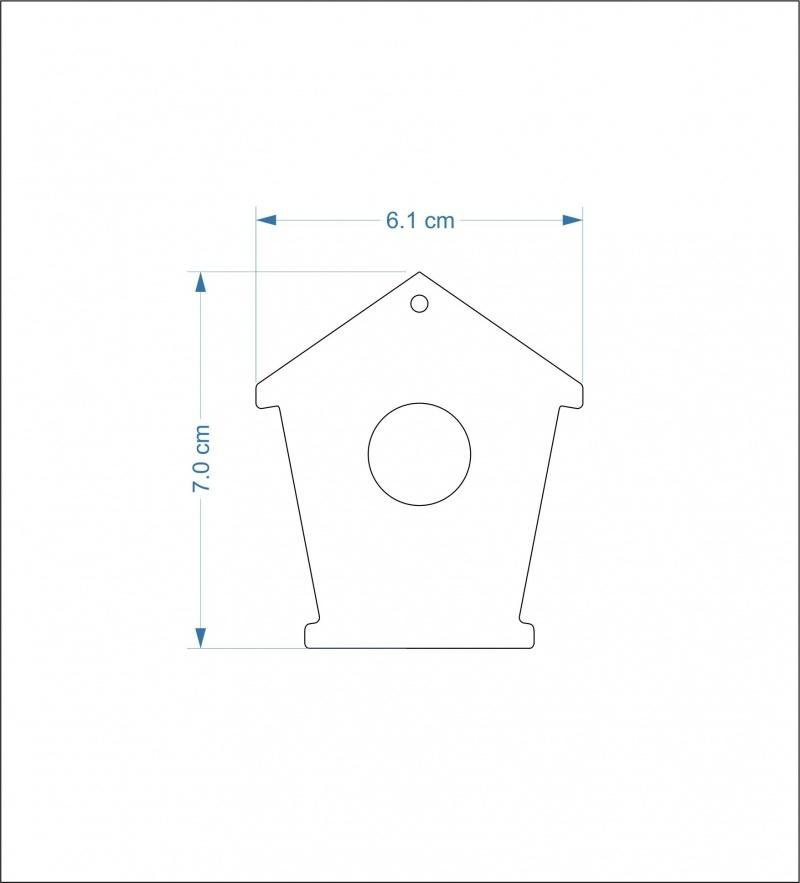 3mm thick mdf bird house fronts - 7 cm round hole/hanging hole