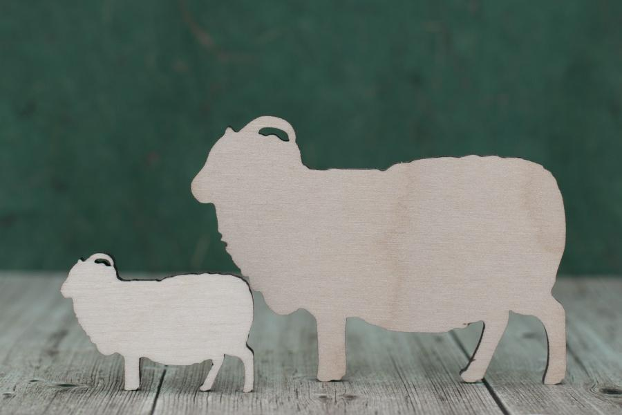 Plywood Sheep Shapes