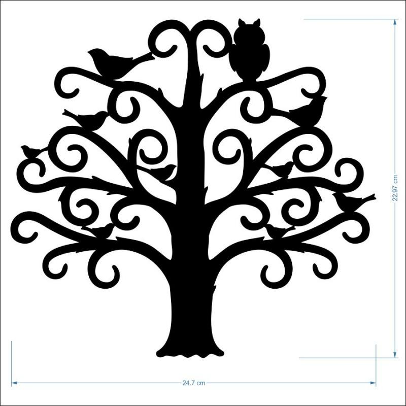 2mm MDF Family Tree - 23 cm