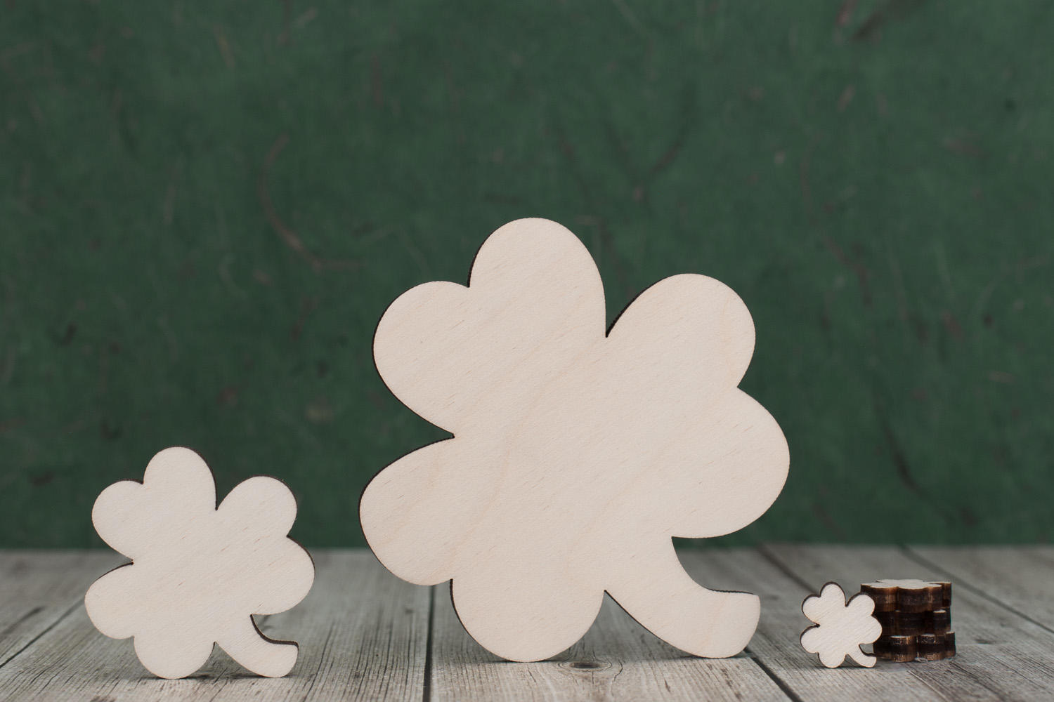 Plywood shamrock cutouts