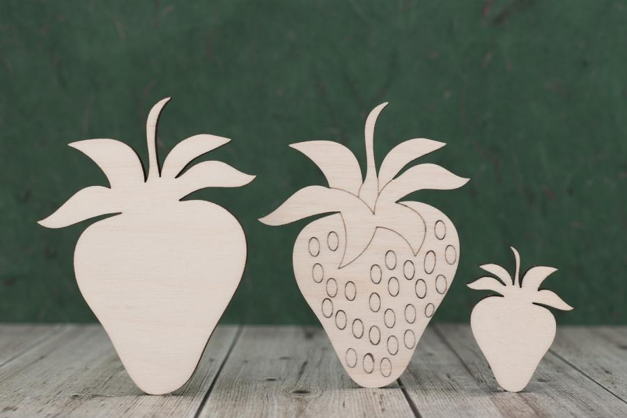 Plywood Strawberry Cut outs