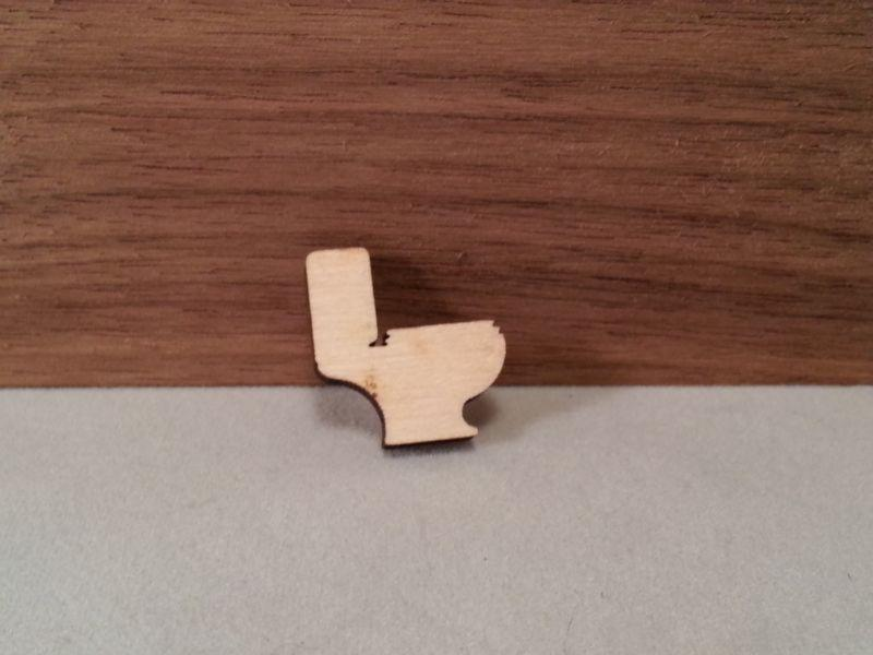 Plywood Toilet Craft Shape - 3.8 cm