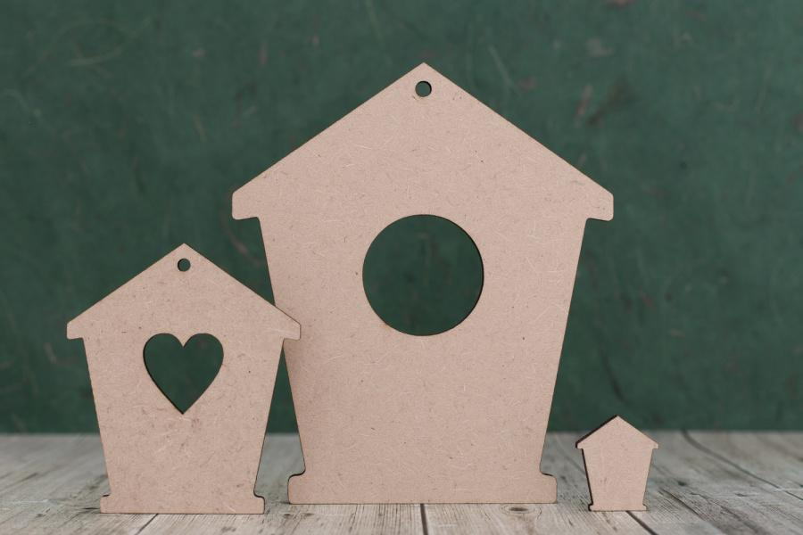 3mm thick mdf Bird House Fronts