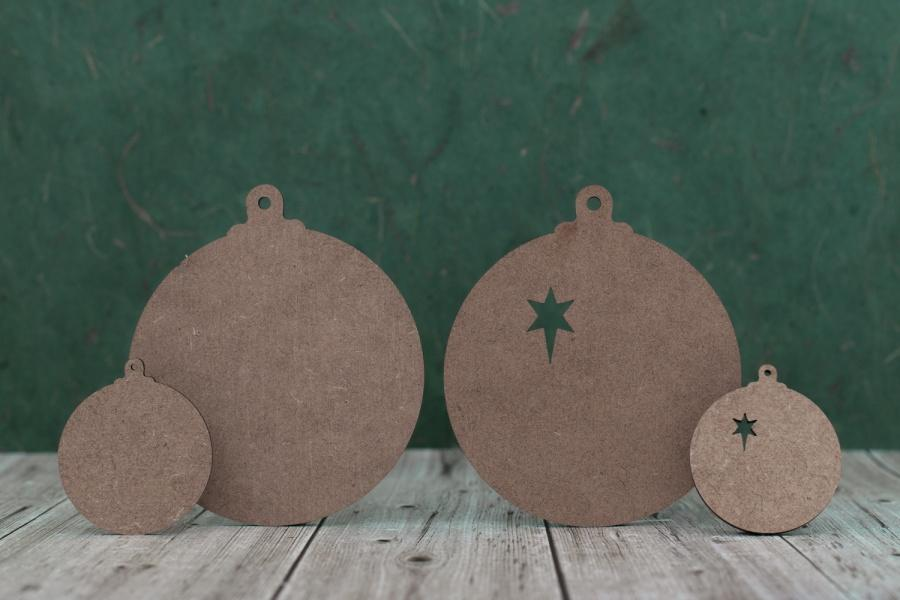 2 mm MDF Baubles