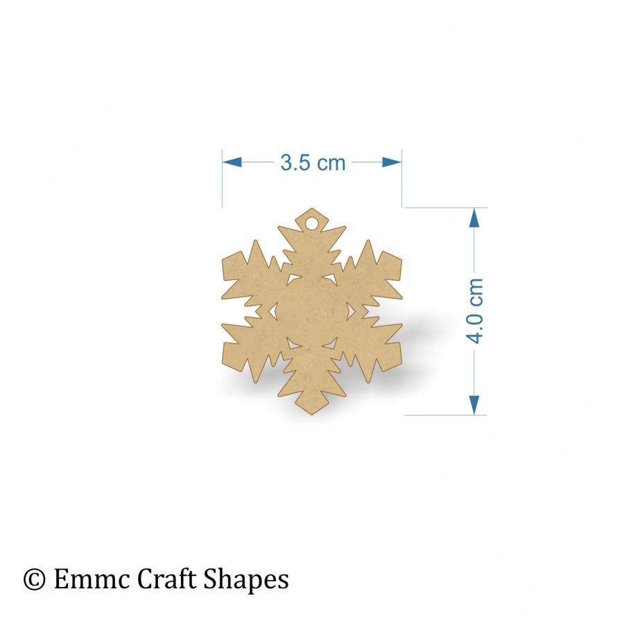 3mm MDF Snowflake Blank - 4cm with hanging hole
