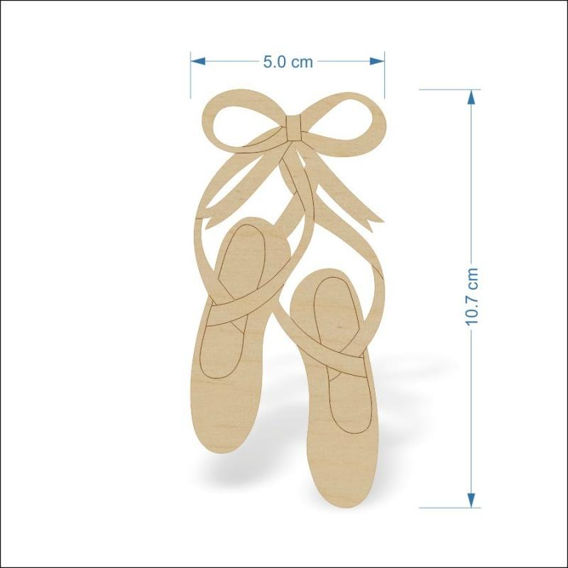 4 mm Plywood ballet shoes - 10 cm