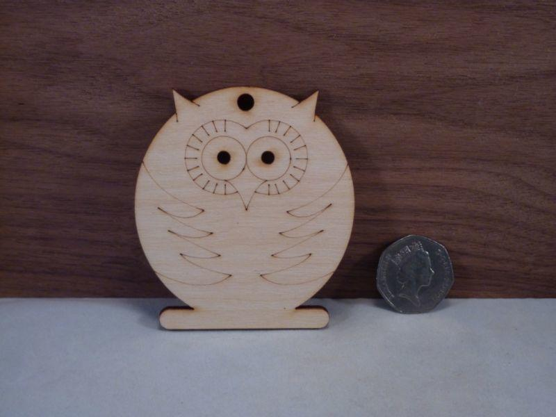Plywood Owl Shape - 8 cm
