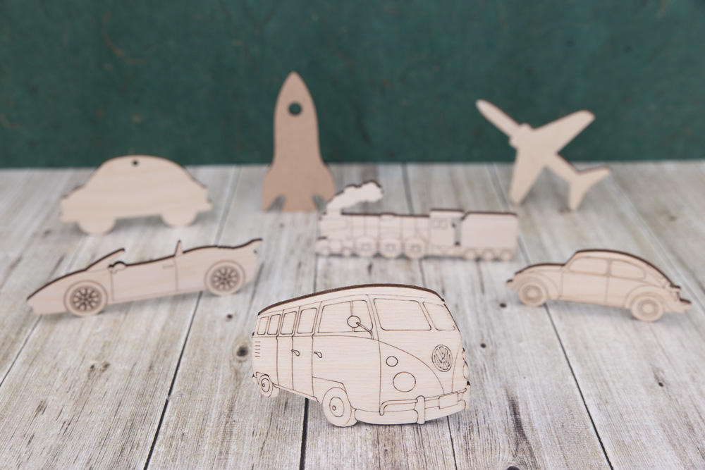 Wooden vehicles and Transport cutouts