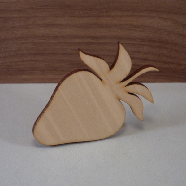 Plywood Strawberry Cut outs - 8cm blank