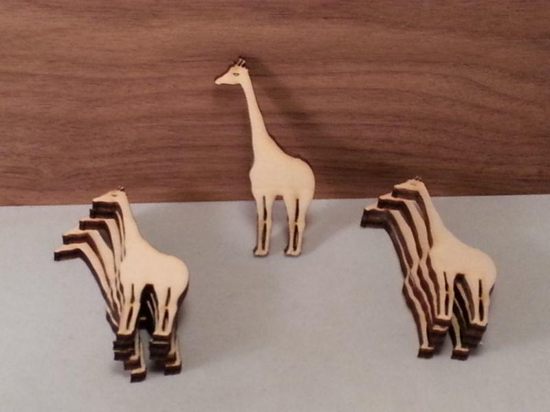 4 mm Plywood Giraffes