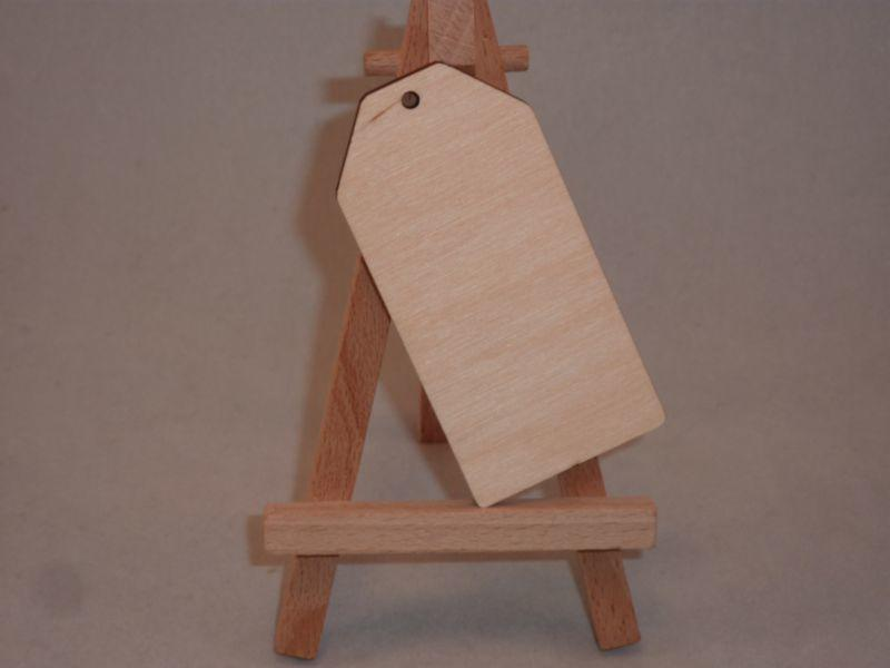 Plywood Wooden Luggage Tag - 8 cm