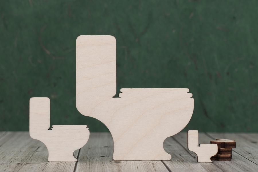 Plywood Toilet Craft Shapes